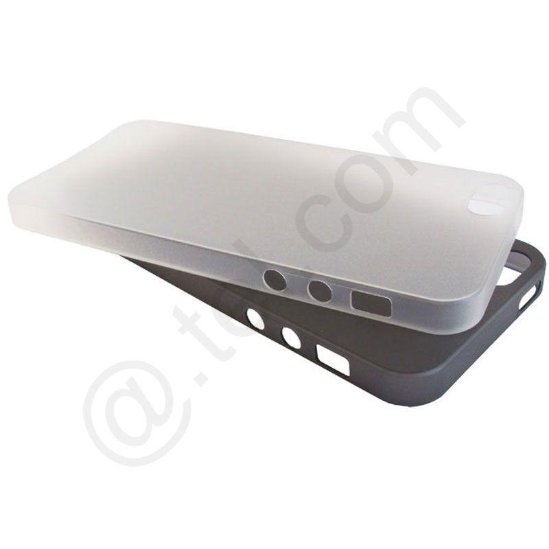 2-x-Slim-Cover-fuer-iPhone-5S-0-5-mm-Ultra-Back-Duenn-Case-weiss-schw-Schutzfol