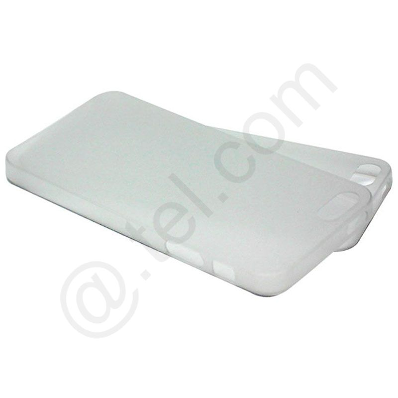 2-x-Slim-Cover-fuer-iPhone-5S-0-5-mm-Ultra-Back-Duenn-Case-weiss-Schutzfolie